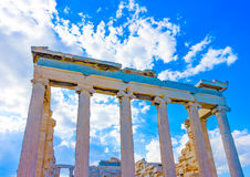 Erechtheion temple of Acropolis Royalty Free Stock Photo