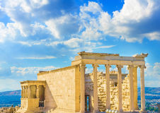 Erechtheion temple of Acropolis Stock Images