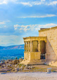 Erechtheion temple of Acropolis Royalty Free Stock Images