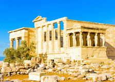Erechtheion temple of Acropolis Royalty Free Stock Photography
