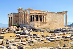 Erechtheion : temple antique, Athènes photos libres de droits