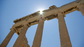 Erechtheion templs in Acropolis, Athens Stock Images