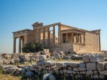 Erechtheion - un temple du grec ancien avec un portique et six cariatides, construits en l'honneur d'Ath?nes et de Poseidon, la G photographie stock libre de droits