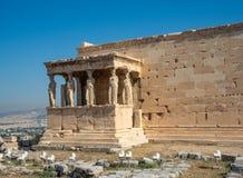 Erechtheion - un temple du grec ancien avec un portique et six cariatides, construits en l'honneur d'Ath?nes et de Poseidon, la G images stock