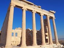 Erechtheionen, akropol, Aten, Grekland Arkivfoto
