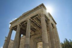 Erechtheions-Tempel in Athen Griechenland stockfotos