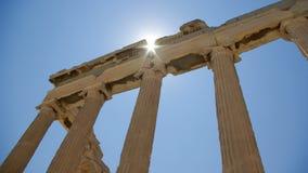 Erechtheions-templs in der Akropolise, Athen Stockbilder