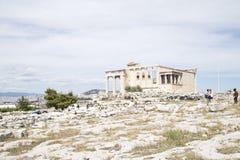 Erechtheiontempel, Athene, Griekenland - Mei 2014 royalty-vrije stock afbeeldingen