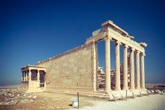 Erechtheum świątynia w Ateny, Grecja Obraz Royalty Free