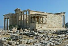 Erechtheum, Афины Греция Стоковые Фото
