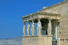 Erechtheum, Афины Греция Стоковые Изображения