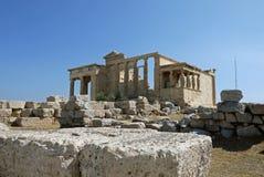 Erechtheum, Афины Греция Стоковое фото RF