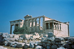 Erechtheum. The Erechtheum Acropolis in Athens Royalty Free Stock Photo