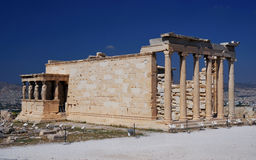 Erechtheum of Acropolis, Athens Stock Images