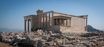 The Erechtheum. Acropolis of Athens Royalty Free Stock Images