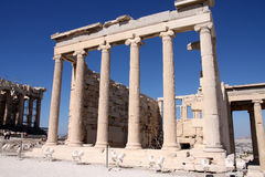 Erechtheum, Acropolis in Athens Stock Photography