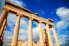 Erechtheum at Acropolis in Athens, Greece Royalty Free Stock Photos