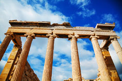 Erechtheum at Acropolis in Athens, Greece Stock Photo