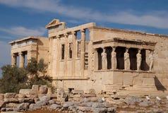 Erechtheum, Atene, Grecia fotografia stock libera da diritti