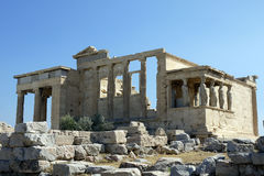 Erechtheum, Athen Griechenland Stockfotografie