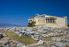 The Erechtheum, Athens, Greece. Image of The Erechtheum, Athens, Greece Royalty Free Stock Photos