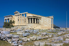 The Erechtheum, Athens, Greece Stock Images