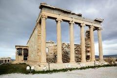 Erechtheum is an Greek temple in Acropolis Stock Images