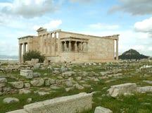 Erechtheum lub Erechtheion, Antyczna Jońska świątynia na akropolu Ateny Fotografia Royalty Free