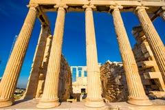Erechtheum temple in Acropolis Stock Photo