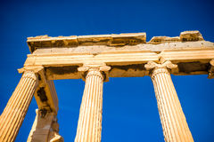 Erechtheum temple in Acropolis Royalty Free Stock Image