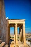 Erechtheum temple in Acropolis Stock Images
