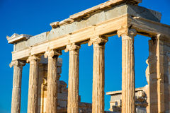 Erechtheum temple in Acropolis Royalty Free Stock Photography