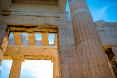 Erechtheum temple in Acropolis Royalty Free Stock Images