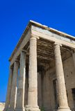 Erechtheum temple in Acropolis at Athens, Greece Royalty Free Stock Images
