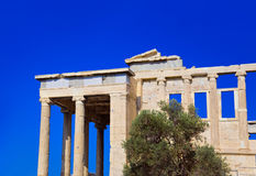 Erechtheum temple in Acropolis at Athens, Greece Stock Photo
