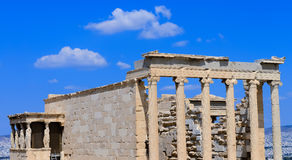 Erechtheum temple. In Acropolis at Athens, Greece Stock Image