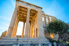 Erechtheum temple in Acropolis Royalty Free Stock Photo