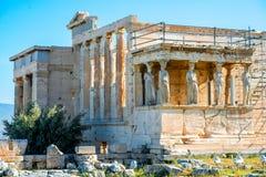 Erechtheum temple in Acropolis Royalty Free Stock Image