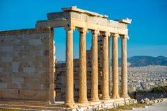 Erechtheum temple in Acropolis Royalty Free Stock Photos