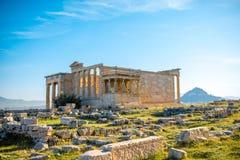Erechtheum temple in Acropolis Stock Photos