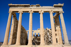 Erechtheum temple. In Acropolis at Athens, Greece Stock Images