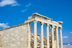 Erechtheum temple. In Acropolis at Athens, Greece Stock Photo