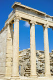 Erechtheum temple. In Acropolis at Athens, Greece Royalty Free Stock Photos
