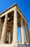 Erechtheum temple. Ionic columns of Erechtheum temple in Acropolis at Athens, Greece Royalty Free Stock Images