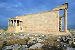 Erechtheum temple, Parthenon of Acropolis in Athens Royalty Free Stock Photo