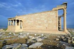 Erechtheum temple, Parthenon of Acropolis in Athens Royalty Free Stock Photo