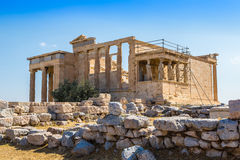 Erechtheum temple ruins on the Acropolis  in Athens Stock Images