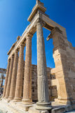 Erechtheum temple ruins on the Acropolis  in Athens Royalty Free Stock Images