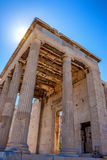 Erechtheum temple ruins. On the Acropolis in a summer day in Athens, Greece Royalty Free Stock Photography