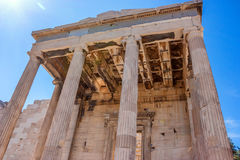 Erechtheum temple ruins. On the Acropolis in a summer day in Athens, Greece Stock Photography